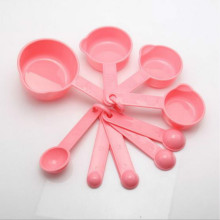 10 шт./компл. розовый Пластик мерные ложки чашки мерный набор Инструменты для выпечки Кофе Кухня аксессуары