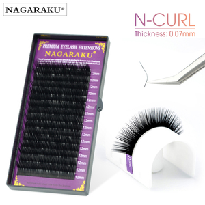 Image 3 - NAGARAKU N curl  L curl  7~15mm mix  Faux mink individual lashes soft natural eyelashes cilia lashes eyelash extension