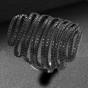 Image 3 - GODKI 2019 Trendy Stacks Charm Statement Ring for Women  Cubic Zircon Finger Rings Beads Charm Ring Bohemian Beach Jewelry