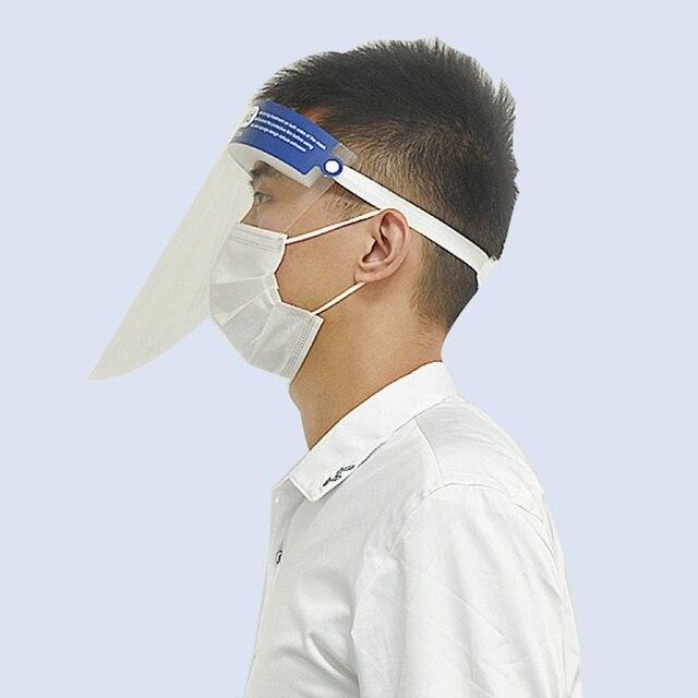 2pcs  Facial Protective Mask Full Covering Face Shield Anti Droplet Saliva Mask Hat Transparent Eyes Protection Adjustable Visor 1
