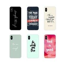 Funda de silicona para teléfono Simple frase en inglés sobre amor para Huawei Mate Honor 5X6X7 7A 7C 8 9 10 8C 8X20 30 Lite Pro