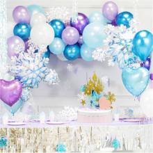 Princess Snowflake Balloon Garland Arch Kit Christmas frozen Birthday Party Ice Ballon Baby Shower Wedding Decor Globo