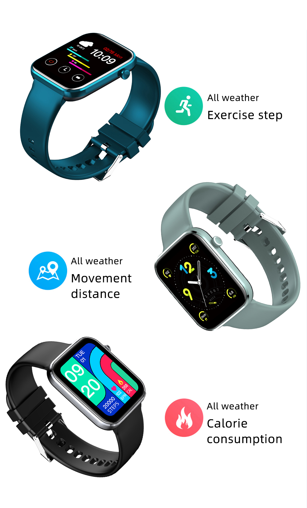 H8352c4e8eb474f37ba4616d0d35a897dp MISIRUN Z15 Smart Watch for Man Women Full Touch Blood Pressure Smart Clock Women watch Smartwatch for IOS Android Xiaomi Phone