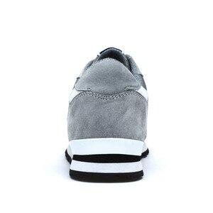 Image 3 - Valstone del cuoio Genuino della scarpa da tennis per Gli Uomini Primavera scarpe casual Traspirante scarpe da trekking outdoor luce peso suola In Gomma Grigio Blu