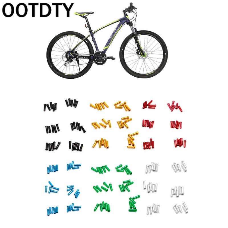 30 peças de Bicicletas MTB End Cap Núcleo Do Fio Do Freio Cabo Engrenagem Tampa de Alumínio Peças de Bicicletas