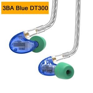 Image 3 - NICEHCK DT600 6BA/DT500 5BA/DT300 Pro 3BA привод Внутриканальные наушники 6/5/3 сбалансированные арматурные съемные MMCX HIFI спортивные наушники