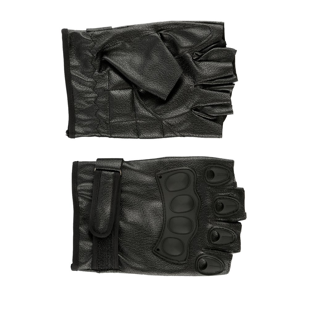Half Finger Gloves PU Leather Men Gloves For Tactical Military Exercise Training Sports Motorcycle Ridding Cycling Gloves