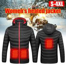 Женская хлопковая стеганая куртка с подогревом usb зарядкой