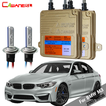 Cawanerl For BMW M3 2001-2006 55W H7 Auto Light Headlight Low Beam Car Canbus Ballast Lamp 3000K-8000K HID Xenon Kit AC