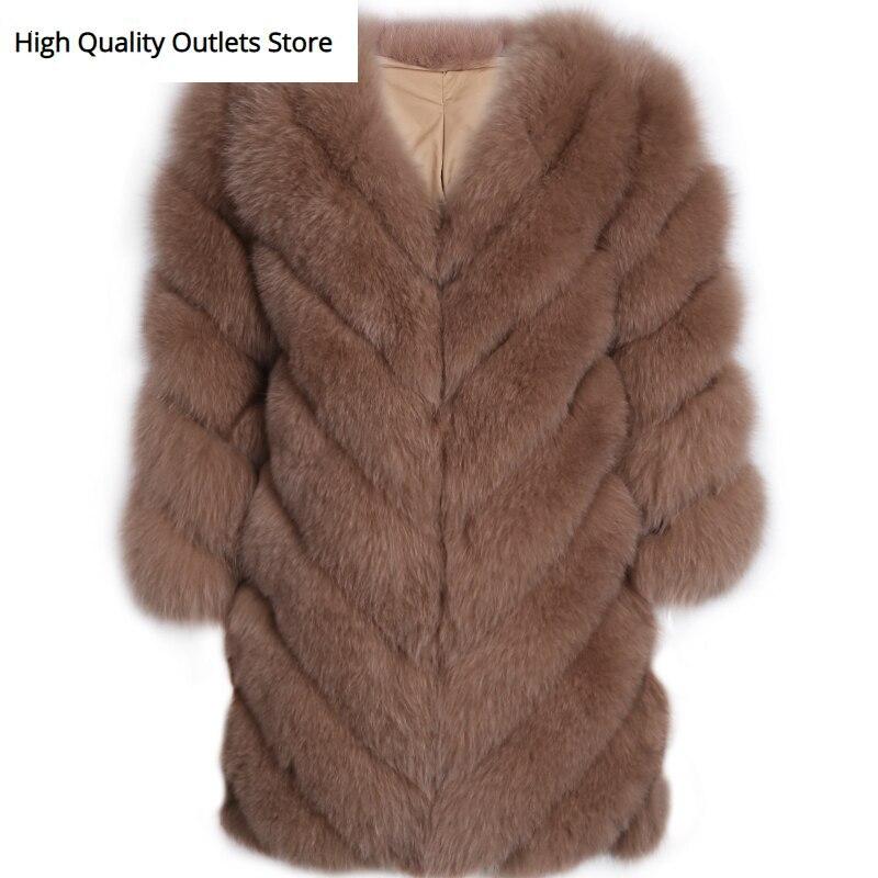 Real Fur Coat Ladies Natural Fur Coat Women Fox Fur Coat Long