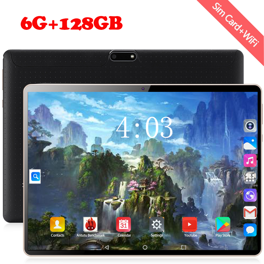 6+128GB Android 8.0 Tablet Pc 10.1 Inch Octa Core 3G/4G LTE Smart Tablet Phone 1280*800 IPS Dual SIM Card WIFI Tablets Kid Gifts