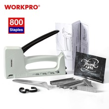 Nail-Gun Stapler Furniture-Nailer WORKPRO with 800 8mm/10mm And Light-Duty Plastic