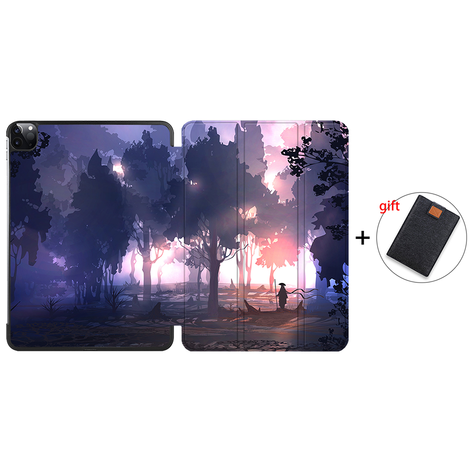 IP16 Clear MTT 2020 Case For iPad Pro 12 9 3rd 4th Generation 2018 PU Leather Flip Stand