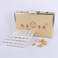 Large Size Wear resistant Household Hand rubbing Mahjong Board Games for Adults Gold Mahjong Entertainment