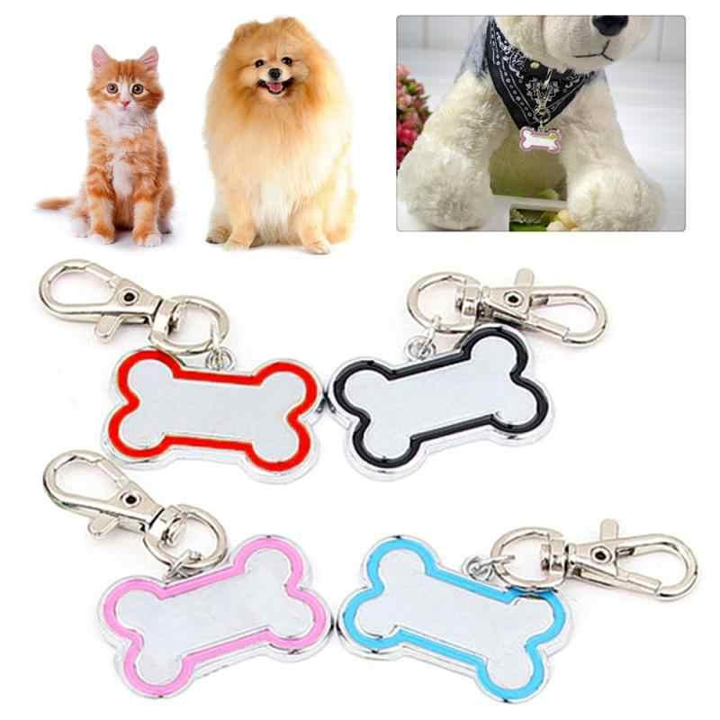 Kişiselleştirilmiş kedi ve köpek kemik isim etiketleri, moda evcil hayvan yaka adı kolye, mini kedi ve köpek adı yaka aksesuarları Pet malzemeleri