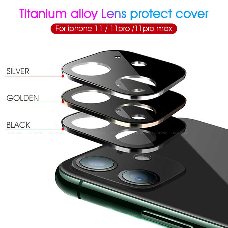 Voor iPhone 11 Volledige Back Camera Lens Screen Protector Cover Voor iPhone 11 Pro Max 2019 Gehard Glas Aluminium Metal lens Case