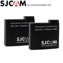 2PCS SJCAM M20 Batterien Wiederaufladbare Li Ion Akku 3,8 V 900mAh Sport Action Kamera DV Batterie