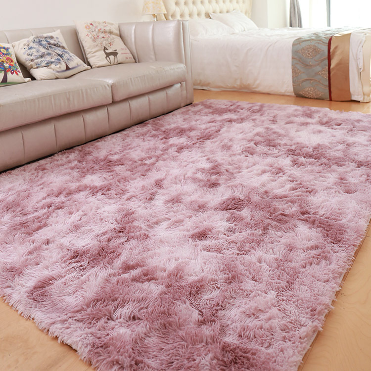 Denisroom Pink Carpet Nordic Ins Style Gradient Colorful Rug For Living Room Bedroom Rugs Fur Mats Large Size Hanging Basket Mat