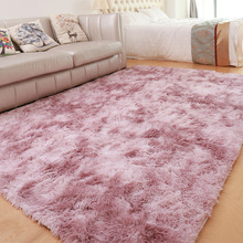 Denisroom Pink Carpet Nordic Ins Style Gradient Colorful Rug For Living Room Bedroom Rugs Fur Mats Large Size Hanging Basket Mat