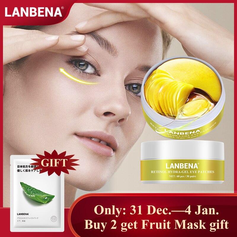 LANBENA Eye Mask Collagen Eye Patch Skin Care Hyaluronic Acid Gel Moisturizing Retinol Anti Aging Remove