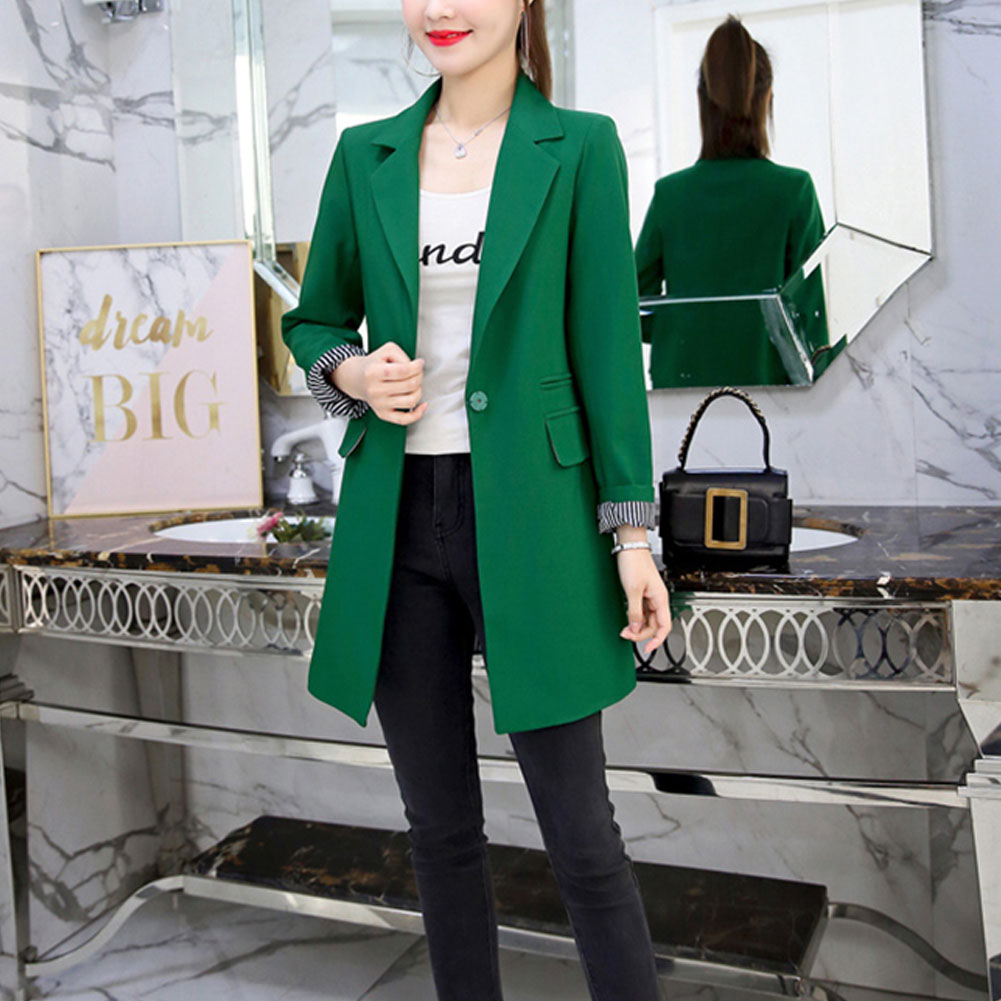 OL Blazer Suit 2019 Spring Autumn Women's Blazer New Jackets For Women Suit European Slim Lapel 3 Colors Pluse Size Blazer
