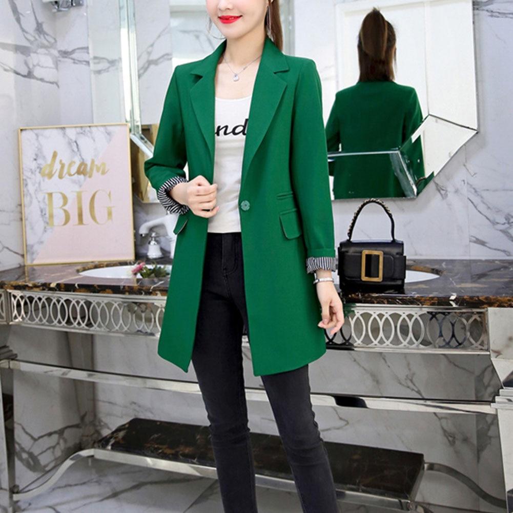 OL Blazer Suit 2019 Spring Autumn Women's Blazer New Jackets For Women Suit European Slim Lapel 3 Colors Pluse Size Blazer
