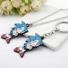 Novo ouriço pingente chaveiros bonito anime keyrings jóias presente para amigos crianças