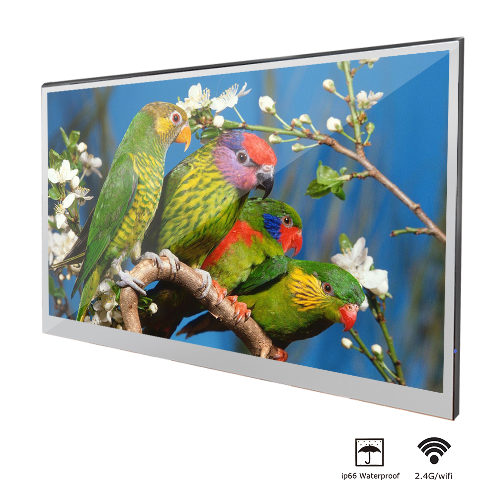 Souria-Velasting 22 inches Russia Android 7.1 Updated Mirror LED Smart TV Waterproof Rated Bathroom in Wall Clear Mirror TV