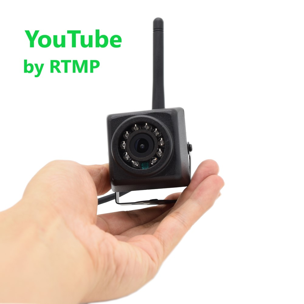 Push Video Stream to YouTube by RTMP IMX335 1920P 1080P Night Vision outdoor Mini WIFI IP Camera Wireless Security Pet Bird image