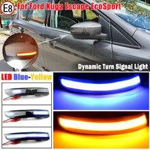 Para ford kuga escape ecosport 13-18 foco 3 mk3 se st rs eua dinâmico transformar a luz do sinal led espelho lateral indicador sequencial