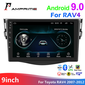 AMPrime 9 2din Stereo Radio Car android Multimedia player For Toyota RAV4 2007-2012 GPS Wifi Bluetooth Auto Radio Phonelink image