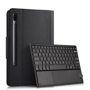 Image 2 - Fall Für Samsung Galaxy Tab S6 10,5 SM T860 SM T865 Tablet Schutz Bluetooth tastatur Protector Abdeckung PU Leder Fall maus