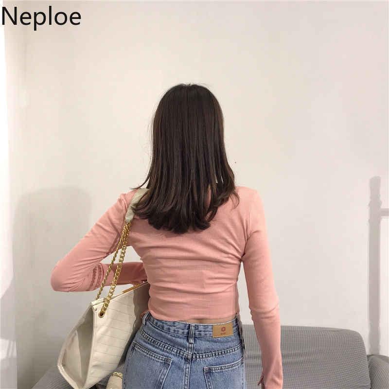 Neploe zíper recortado cardigan camisola de malha do vintage manga curta jumper topo 2020 feminino sexy fino curto malhas 1a1104