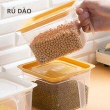 Plastic Cereal Dispenser Storage Box Kitchen Food Grain Rice Container Nice Kitchen Rice Storage Box Flour Grain Storage R100 40