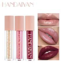 Handaiyan brilho brilho batom gloss à prova dvelágua longa duração pigmento velve vermelho sereia batom cosméticos sexy shimmer