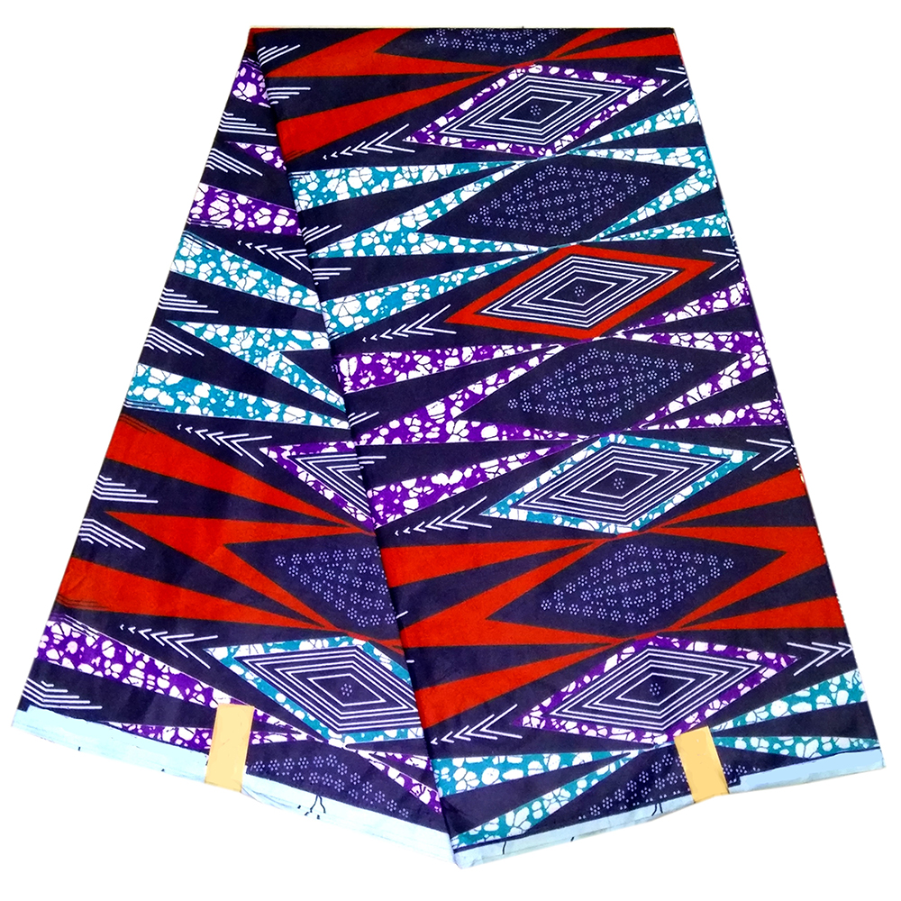 African Print Fabric African Colorful Geometric Patterns Print Wax