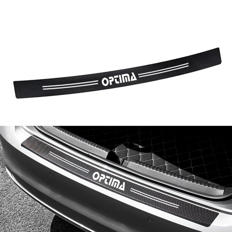 1pcs 90*7cm Rear Bumper Protection Carbon Fiber Sticker Decoration For kia optima k5 2014 2015 2016 2017 2018 accessories image