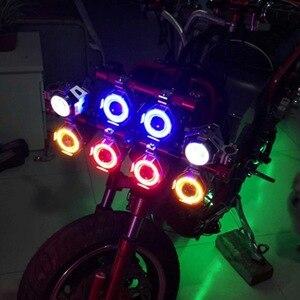 Image 4 - 125W Moto U7 Led Koplamp Spotlight Led Driving Auto Fog Werk Drl U5 Blauw Angel Eyes Waterdichte Motor hoofd Lamp