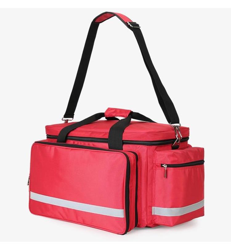 Outdoor First Aid Medical Bag Isolation Multi-pocket Large Storage Portable Cross Emergency Medical Bag Sports Travel Nylon Bag (4)