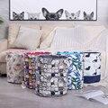 Runde Faltbare Wäsche Korb Korb Mit Griffen Schmutzige Kleidung Organizer Wasserdicht Verdickt EVA Stoff Spielzeug Lagerung Eimer-in Wäschekörbe aus Heim und Garten bei