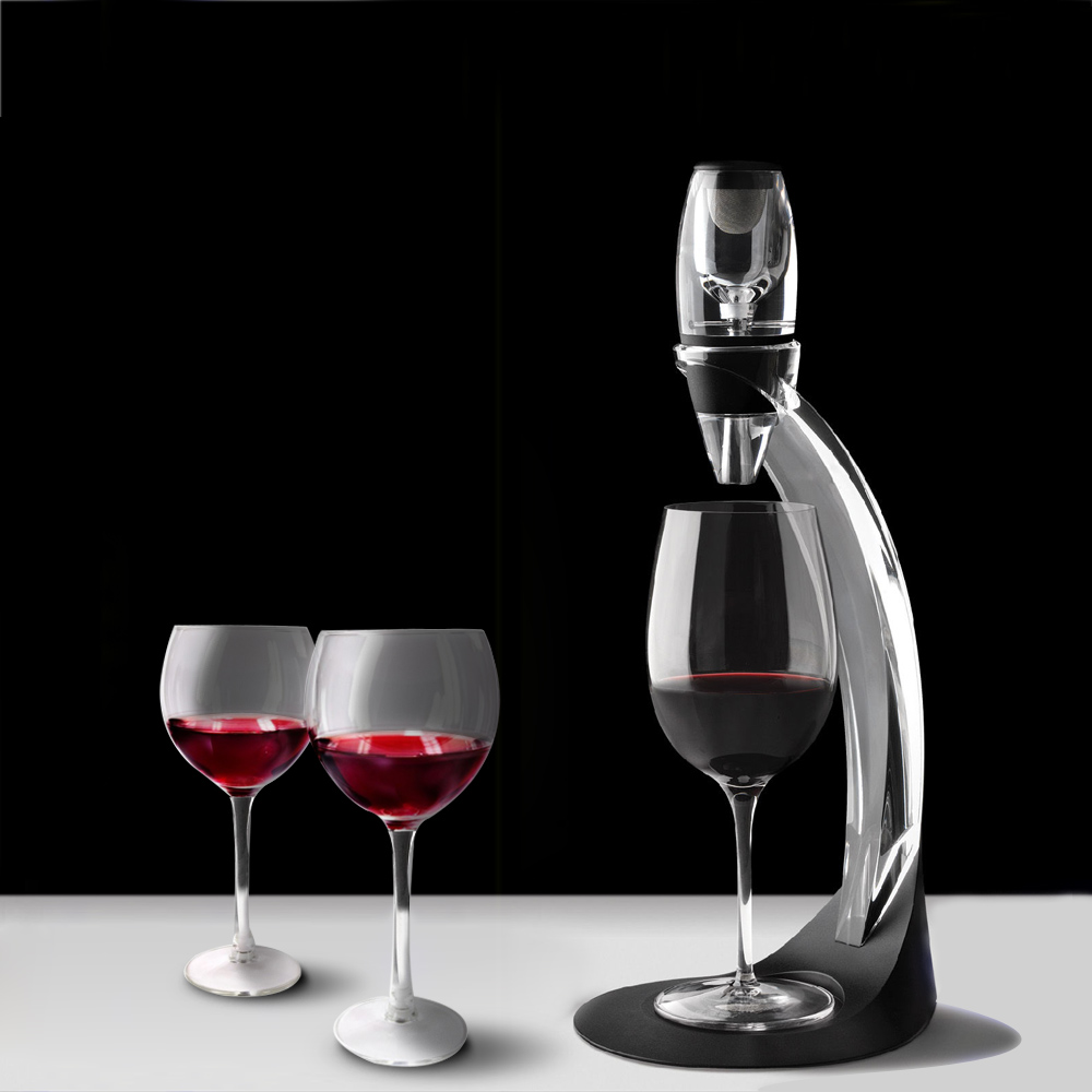 magic wine decanter Wine Decanter Set Mini Essential Red Wine Quick Aerator&Tower with Filter Stand Holder Dining Bar