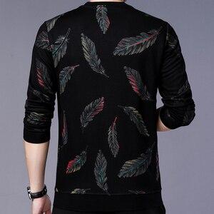 Image 3 - Jersey de diseñador con plumas para hombre, Jersey delgado de punto, ropa de punto ajustada, ropa de punto 2020