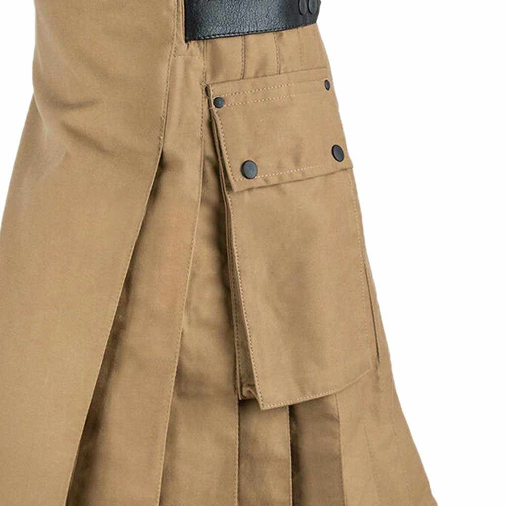 Pantalones JAYCOSIN personalizables Vintage Kilt Escocia gótico Kendo faldas de bolsillo ropa escocesa Falda plisada pantalones 19Sep04