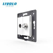 Livolo – prise de courant Standard ue, accessoire pour produits à monter soi-même, Base pour télévision + satellite VL-C7-1VST-11