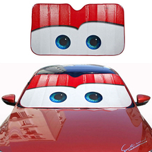 알루미늄 호일 컬러 만화 큰 눈 자동차 앞 유리 차양 태양 바이저 커버