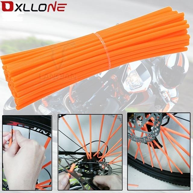 For honda cbr 600f cbr954 cr 500 cr250 vespas125 cb400 sf Universal motocross Wheel Rim Spokes Skins protector Multi motorbike