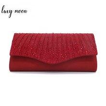 Bolso de fiesta de lujo Luna cristal embragues mujer bolso de boda Vintage elegante cadena bolsos de hombro para mujer cartera ZD1456