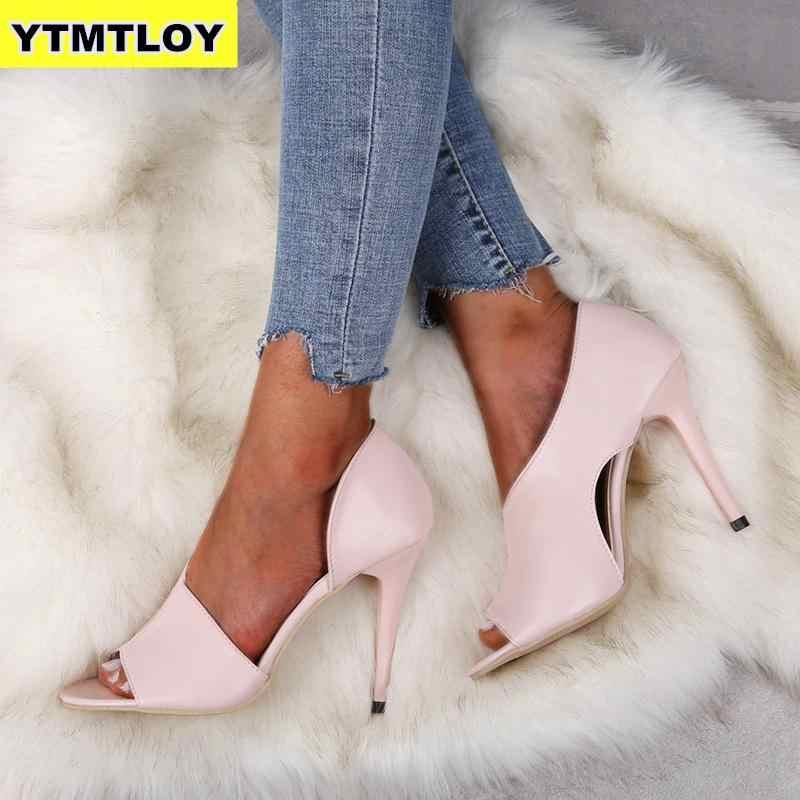 Neue Damen Mode Sommer Sexy Exquisite High Heels Damen Erhöhte Stiletto Peep Toe Sandalen Hochzeit Schuhe Rosa Heels