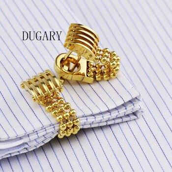 DUGARY Gioielli francese camicia gemelli per la mens Polsini Pulsante di collegamento di sesso maschile di Alta Qualità di Marca di Lusso del progettista di Cerimonia Nuziale di Trasporto Libero