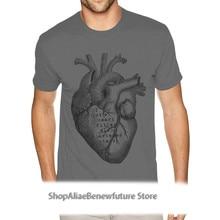 Branded Heart Diagram Organ Graphic Tees Short Sleeve Man Men 3XL Deep Heather Tee Shirts